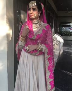 Best of the custom made Indian Groom and Bridal outfit Get your Customize Wedding Outfit - INTERNATI - 👗Luxury Clothing for Bride & Groom👫 📲: 📧: nivetasfashion worldwide shipping Source by - Indian Gowns Dresses, Indian Fashion Dresses, Dress Indian Style, Indian Designer Outfits, Dress Fashion, Bridal Suits Punjabi, Pakistani Bridal Dresses, Pakistani Dress Design, Punjabi Bride