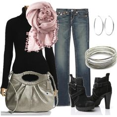 I once again love the scarf & boots!  I clearly need to add more of both to my wardrobe.