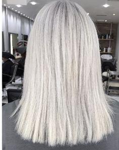 Silver grey hair by Emma