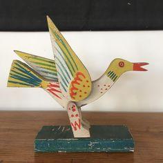 Alexander Girard wooden bird sculpture