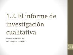 Caracterísiticas y función de los informes de resultados.
