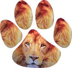 4.5″ x 5″Lion Animal Paw Print Window Sticker Decal Stickers Decals