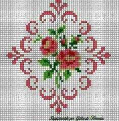 This is a group of floral patterns perfect for embroidery beginners. You get to try out on different embroidery styles for this piece. Cross Stitch Rose, Cross Stitch Borders, Cross Stitch Alphabet, Cross Stitch Flowers, Cross Stitch Charts, Cross Stitch Designs, Cross Stitching, Cross Stitch Embroidery, Cross Stitch Patterns