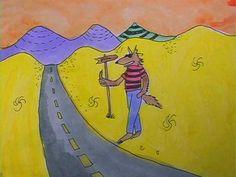 Animation still of Jocko hitchhiking