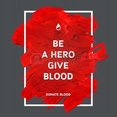 donate: Creative Donate blood motivation information donor poster. Blood Donation. World Blood Donor Day banner. Red stroke and text. Medical design elements. Grunge texture.