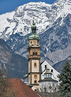 Hall in Tirol - Tyrol, Austria Beautiful Places In The World, Places Around The World, Oh The Places You'll Go, Great Places, Places To Travel, Places To Visit, Tirol Austria, Innsbruck, Chapelle