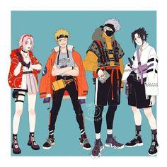 Naruto - Team 7 discovered by Dane! Naruto Comic, Anime Naruto, Naruto Cute, Anime Manga, Naruto Uzumaki, Sasunaru, Kakashi Hatake, Naruto Team 7, Akira