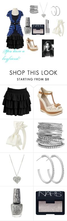 """""""Fleur"""" by kimmy-rules ❤ liked on Polyvore featuring Old Navy, Jane Norman, Monsoon, Natasha, Wet Seal, Simply Silver, OPI, NARS Cosmetics and Sisley"""