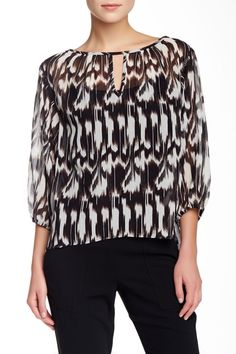 c7473dff144f8 Trina Turk Top NEW Peasant Tiger Lilly Blouse Silk Cotton  TrinaTurk  Blouse