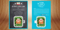 Earthbound Farms was looking for a way to deliver their digital story in a creative way that was fun and unique. A die cut salad packaging USB card does the trick!