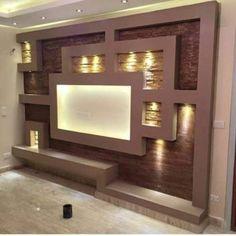 Wall Unit Designs, Living Room Tv Unit Designs, Tv Wall Design, Deco Tv, Modern Tv Wall Units, Wall Units For Tv, Plafond Design, Tv Wall Decor, Wall Tv
