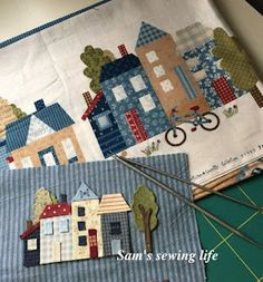 House Quilt Patterns, House Quilt Block, House Quilts, Applique Patterns, Applique Quilts, Quilt Blocks, Small Quilts, Mini Quilts, Hand Quilting