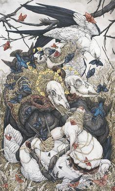 Lauren Marx is a watercolor artist based in St. Art Inspo, Inspiration Art, Art Sketches, Art Drawings, Art Et Illustration, Marx, Oeuvre D'art, Gravure, Dark Art