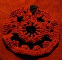 free crochet pumpkin hot pad pattern