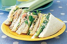 Sandwich fillings.  Chicken and Sweet Potato, sounds interesting!