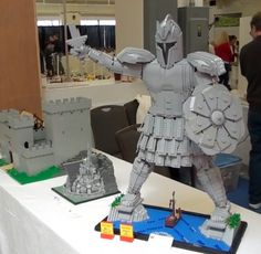 We've seen the Titan of Braavos a couple of times in the past seasons of Game of Thrones, and we'll probably see more of it this season. Lego Village, Legos, Favorite Things, Geek Stuff, Gray, Boys, Creative, Geek Things, Baby Boys