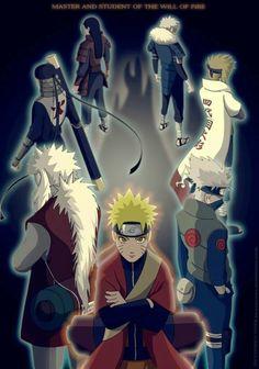 Hokage, Jiraiya, Kakashi and Naruto Anime Naruto, Naruto Shippuden Sasuke, Naruto Kakashi, Manga Anime, Wallpaper Naruto Shippuden, Naruto Wallpaper, Naruto Art, Sasuke Sakura, Wallpapers Naruto