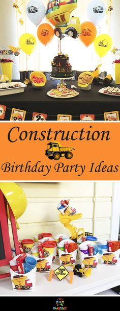 Construction themed boys birthday party.