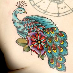 103139dbe Peacock Tattoo by Gian Karle Cruz Gian Karle, Ink Master Season 8,  Beautiful Tattoos
