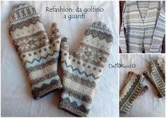 Refashion, come ricavare dei guanti da un maglione di lana