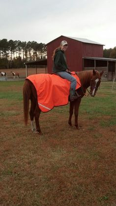 I finally found a 'Dont shoot' blanket for trail rides!