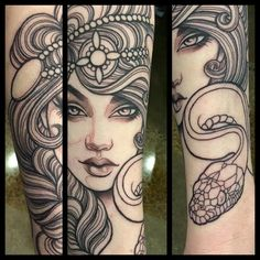 Got a start on this forearm piece on the lovely @sophielewistattoos Colour still to come