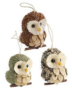 Owl Christmas Tree Ornaments   Buy from Gardener's Supply