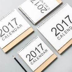 [ 39% OFF ] Table Calendar Basic Coil Spiral Notebook Design