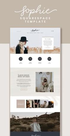The Sophie Squarespace Template Kit is a rustic and romantic website kit with a classic layout. It has been designed with photographers, designers, or other creative business types in mind. Website Layout, Foto Website, Website Themes, Website Ideas, Web Design Trends, Design Websites, Fashion Web Design, Layout Design, Web Layout