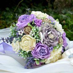 Accessoires - Brautsträuße Mint Claire und anstecker - ein Designerstück von Wandadesign bei DaWanda