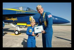 Eight-year-old Ethan, who has a brain tumor, wished to be a Blue Angel.