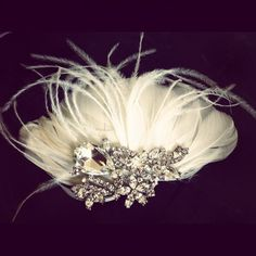 * Tiffany Feather hairpiece