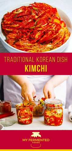 Kimchi is one of the most famous fermented foods. It is a Korean traditional side dish made of radish and cabbage. Here is a kimchi recipe for you to try. Probiotic Foods, Fermented Foods, Korean Recipes, Chinese Recipes, Thai Recipes, Korean Kimchi, South Korean Food, Fermentation Recipes, Kimchi Recipe