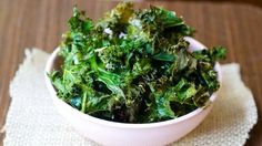 350 for Rich in iron, calcium and vitamins A, C and K, kale is an excellent addition to the dinner table. For a delicious serving option, try our baked parmesan kale chips. Best Kale Chip Recipe, Kale Chip Recipes, Chips Recipe, Appetizer Recipes, Appetizers, Snack Recipes, Kale Chips, Chips Chips, Weight Loss Snacks