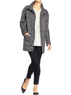 Women's Leopard-Print Blanket Coats | Old Navy