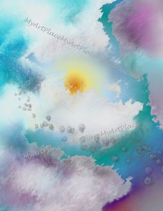 Digital PapersClouds Instant Download Blue Sky by MyArtPlace, $1.50