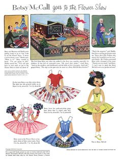 Betsy paper dolls in each issue of McCall's magazine.  I remember being so excited when mom's issue arrived.  This is from March 1955.