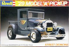 "Revell ""Street Demons"" 1929 Ford ""A"" Pickup (Roadster or Closed Cab) Street Rod"