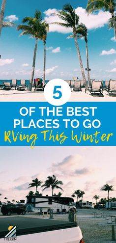 Are you wanting to escape the cold this winter? Here are 5 places we chose as our top picks of where to RV in winter. From California to Florida and a few places in between, these places will keep you warm and enjoying RV living! Arizona Travel, Florida Travel, California Travel, Texas Travel, Cool Places To Visit, Places To Travel, Places To Go, Travel Destinations, Rv Travel