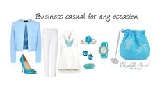 Business casual never looked better. For more colors visit http://elizabethscovil.com/shop/accessories/rope-pouch/ #fashion #elizabethscovil #Teal #BusinessCasual #White