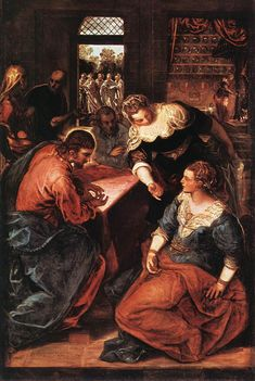 Jacopo_Tintoretto_-_Christ_in_the_House_of_Martha_and_Mary_-_WGA22615.jpg (704×1050)