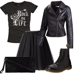 Dr Martens Style, Dr Martens Outfit, Punk Outfits, Jean Outfits, Fashion Outfits, Dr. Martens, Diva Fashion, Fashion Trends, Leather Jacket Outfits