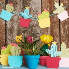Paper Cactus Garland