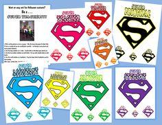 Superhero school staff