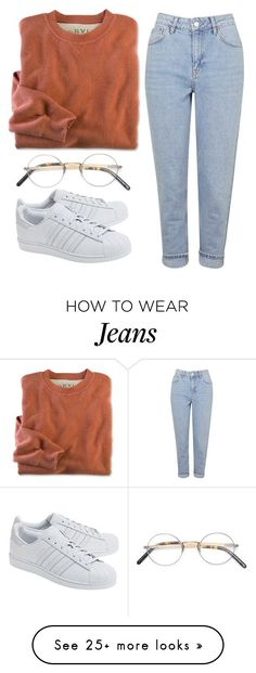 """bye bye May"" by redapplecigarettes on Polyvore featuring Topshop, adidas Originals and Oliver Peoples"