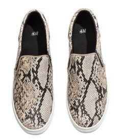 H&M Snake Skin Slip ons