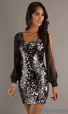 Short Sequin Dress...New Years Eve Dress