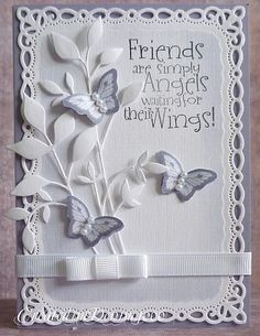 memory box dies cards | ... up although the words were placed to fit the Memory Box Foliage die