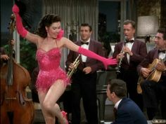 """Ann Miller shaking things up in Kiss Me Kate, performing """"It's Too Darn Hot"""""""