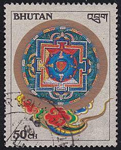 Bhutan # 547 used ~ 50ch Kilkhor Mandalas - bidStart (item 40584509 in Stamps, Asia, Bhutan)